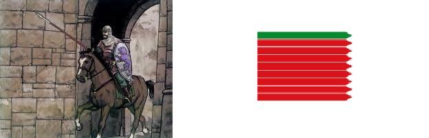 Caballero zamorano y su bandera