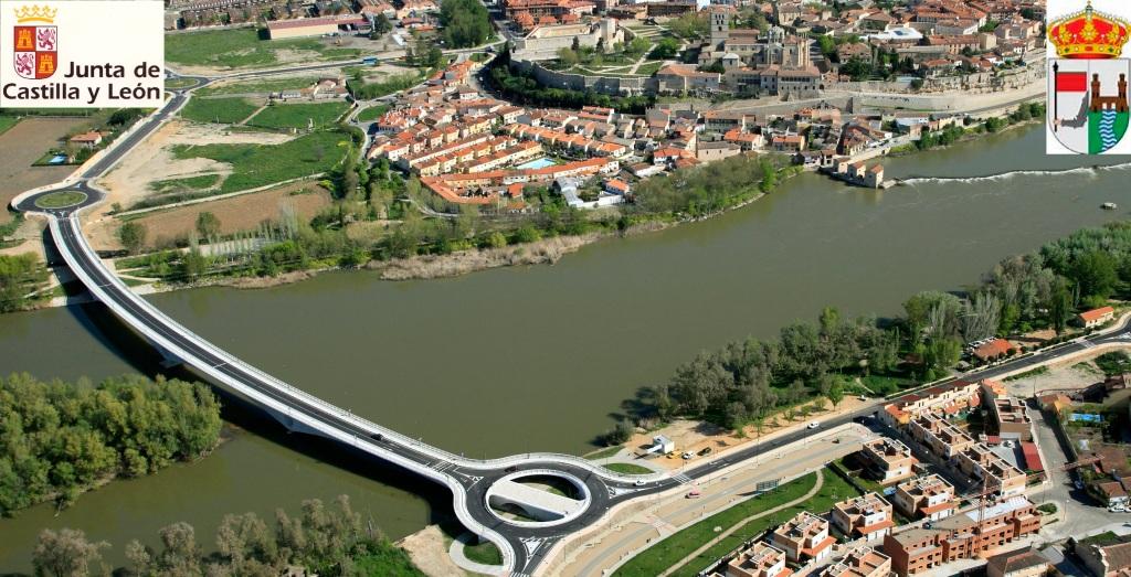 Nuevo puente sobre el Río Duero de la cuidad de Zamora