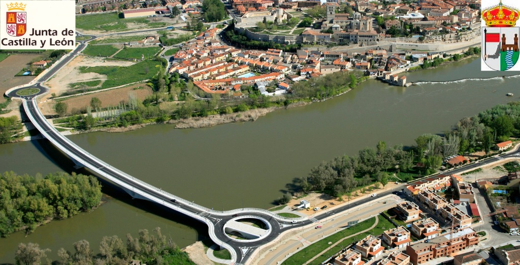 Nuevo Puente sobre el Duero en la ciudad de Zamora
